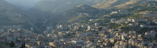 Zahle, General View From Tal Shiha Statue